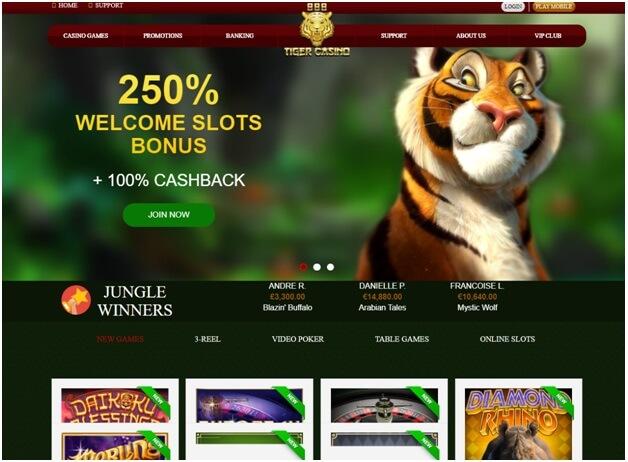 888 Tiger Bonus de bienvenue pour jouer aux machines à sous uniquement