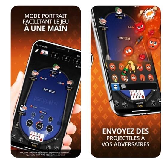 Application de Party Poker France