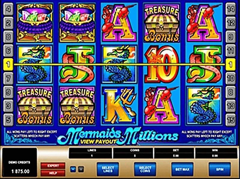 Bonus de trésor de machine à sous Mermaid Millions Jackpot