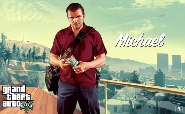 Un personnage virtuel dans le jeu Grand Theft Auto V