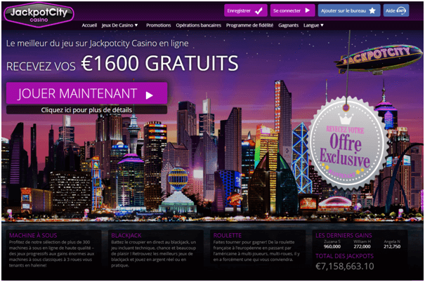 Jackpot City Casino fr