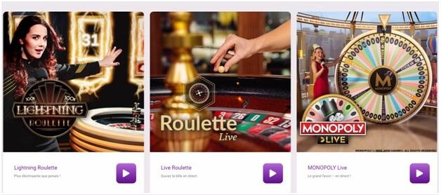 Jeux de croupiers en direct du Jackpot City Casino