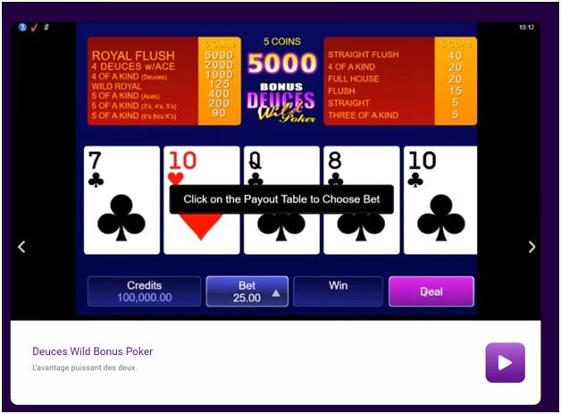 Jeux de poker Jackpot City Casino