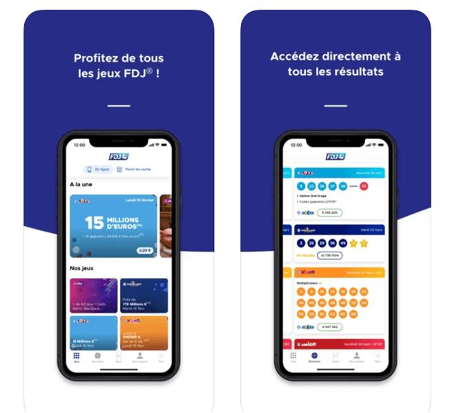 La Française des Jeux accessible depuis votre mobile
