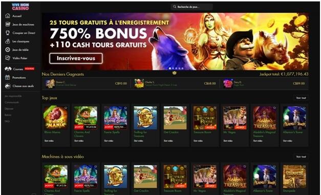 Le casino en ligne Vive Mon offre un bonus de bienvenue impressionnant, des tours gratuits, des bonus Bitcoin et plus