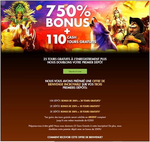 Le dépôt avec Neosurf dans certains casinos en ligne vous offre également un excellent bonus de dépôt.