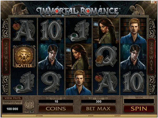 Le jeu de machine à sous Immortal Romance est le jeu le plus populaire au casino en ligne