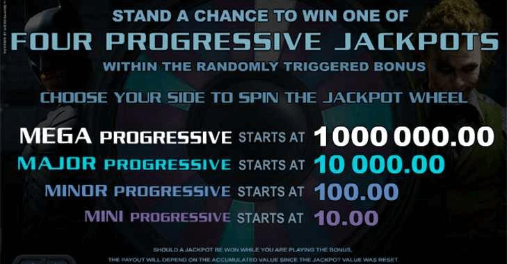 Les machines à sous Dark Knight avec quatre jackpots à gagner
