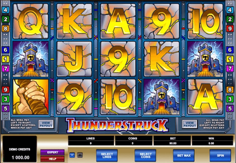 Machines à sous Thunderstruck pour jouer dans les casinos en ligne
