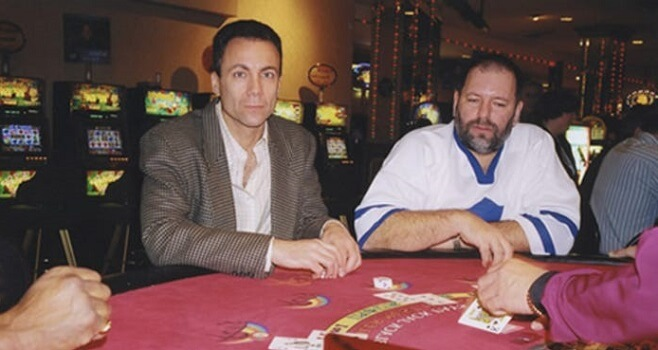 Richard Marcus en train de jouer dans un casino
