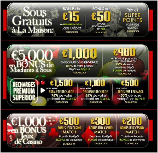 Superior Casino Fr- Bonus de bienvenue