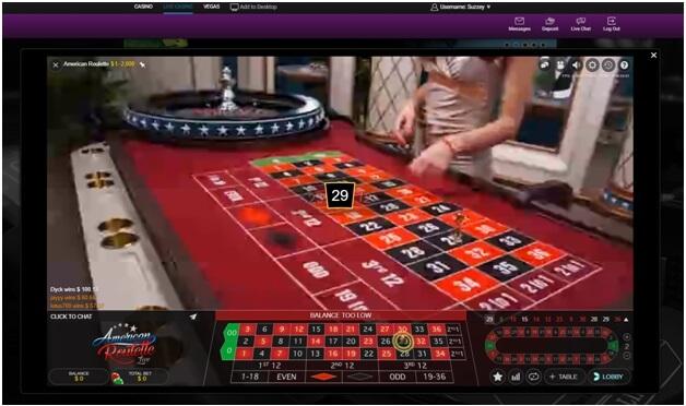 Table de roulette au Jackpot City Casino