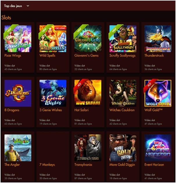 Thèbes Casino- Jeux Pour jouer