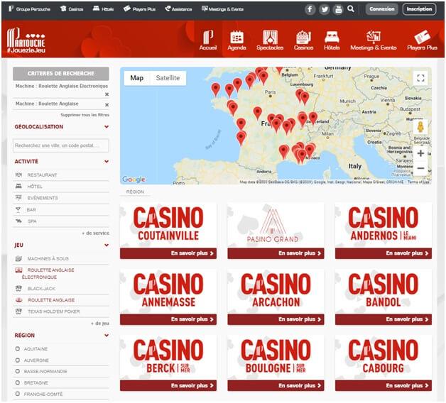 Un grand choix de jeux de casino