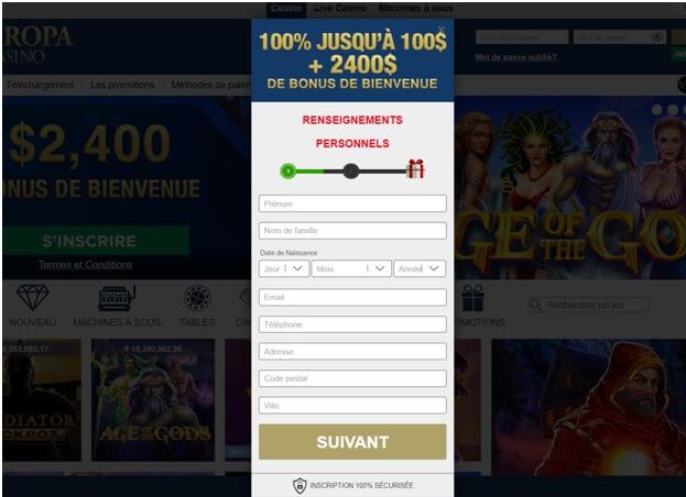 Vous pouvez rejoindre Europa Casino avec votre mobile, PC ou tablette en vous inscrivant et en ouvrant votre compte casino